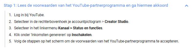 Geld verdienen met YouTube stap 1