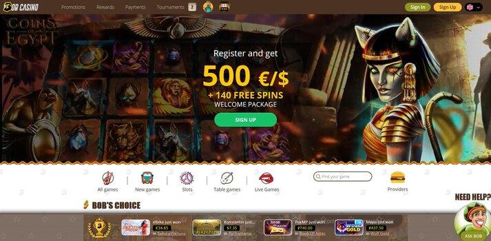 Bobcasino online casino