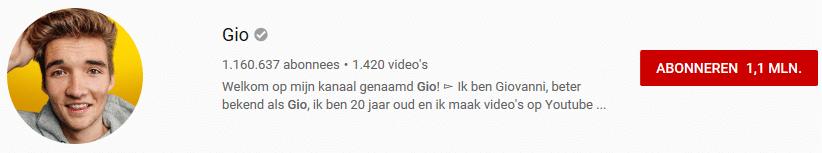 YouTuber Gio Latooy