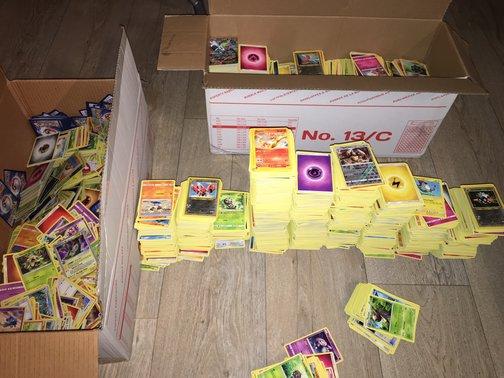 Veel Pokémon kaarten